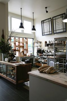 Coffee shop coffee stops bakery interior, bakery kitchen und Bakery Interior, Shop Interior Design, Cafe Design, Home Interior, Bakery Shop Design, Design Design, Bakery Kitchen, Bakery Cafe, Bakery Decor