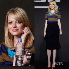Emma Stone - Love the mix of casual and dressy