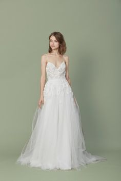 """""""Elana"""" by Christos Bridal now available at Nicole Bridal in Jenintown, PA; 215-886-2333; www.nicolebridal.com"""