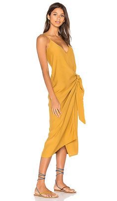 Shop for FAITHFULL THE BRAND Juel Midi Dress in Plain Mustard at REVOLVE. Free 2-3 day shipping and returns, 30 day price match guarantee.