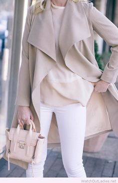 White jeans with nude details