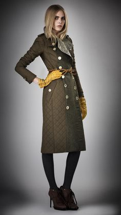 Burberry Prorsum Womenswear Autumn/Winter 2012 : BLANKET QUILT TRENCH COAT