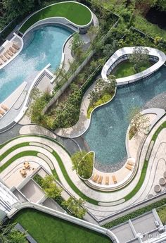 Discover recipes, home ideas, style inspiration and other ideas to try. Pool Landscape Design, Landscape Architecture Design, Urban Architecture, Landscape Plans, Urban Landscape, Plaza Design, Parking Design, Environmental Design, Modern Landscaping