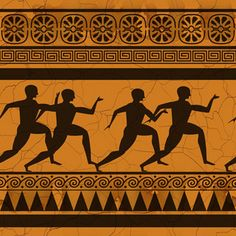 Risultati immagini per ancient greek vases art patterns Greek Pattern, Pattern Art, Art Patterns, Geometric Patterns, Ancient Greek Art, Ancient Greece, Greek History, Ancient History, Greece Art