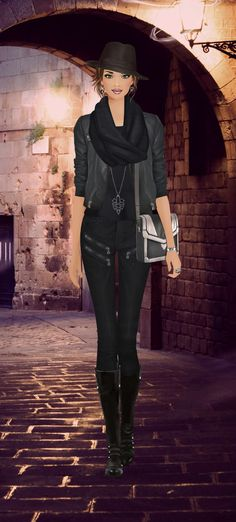 Cute outfit from the Covet Fashion game.