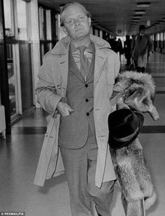 Truman Capote, pictured here at Heathrow airport arriving for the opening of the film based on 'In Cold Blood,' penned the ground-breaking novel after making 8,000 pages of notes