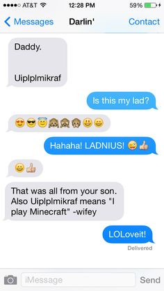 That moment when your kid first texts you. On their own! And it makes sense! Sort of... via howtobeadad.com