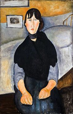"chimneyfish: "" Young Woman of the People, 1918 Amedeo Modigliani """