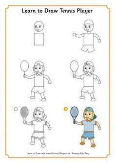 Learn to Draw a Tennis Player