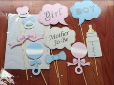 10 PCS Baby Shower Party Baby Bottle Masks Photo Booth Props On A Stick Favor #Unbranded #Halloween