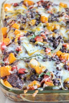 Roasted Butternut Squash Enchilada Hotdish