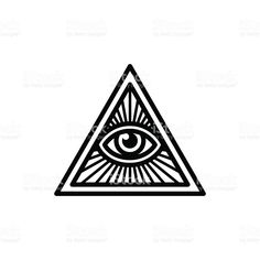 All seeing eye symbol royalty-free stock vector art