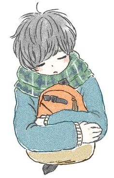 (@ituka_e)..animeboy..kawaii..illustration..sleepy..cute..