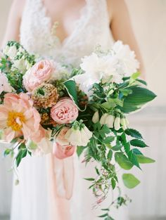 Gorgeous blush bouquet: http://www.stylemepretty.com/2016/03/20/spring-preview-every-detail-you-need-to-see-this-season/