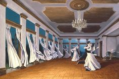 The Dancing Wind by Rob Gonsalves is so elegant and seamless. The curtains flow into the dancing women that you don't see where it all ends. The detail in the piece is just as stunning, right down to the floor boards!Rob Gonsalves is one of our amazing and top selling artists at Huckleberry Fine Art. We also publish his prints and you can order them by calling the gallery at 301-881-5977 or visiting our site www.huckleberryfineart.com