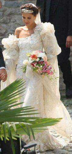 Margherita Missoni in Giambattista Vialli wedding dress