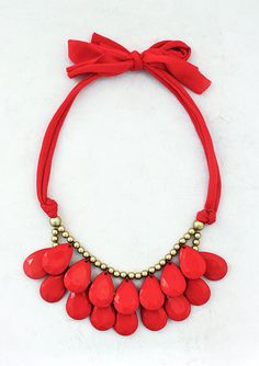 Anthropologie Inspired  Red Necklace  by ShamelesslySparkly, $9.90