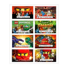 8 PERSONALIZED Printed Ninjago inspired by Letshaveaparty0413