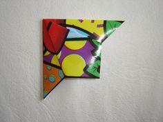 DIY origami bookmark.