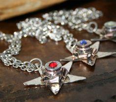 Lone Star Bullet Casing Necklace - GunGoddess.com