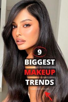 Discover amazing makeup trends 2021, beauty trends, eye makeup, makeup ideas, makeup looks, natural makeup looks, trendy makeup, trendy eyeshadows, glossy eyeshadows, bright lips trend, color eyeliner trend, thin eyeliner makeup, nude makeup ideas, shine skin trend, brushed up eyebrows makeup, red lipstick makeup look, bold eyeshadow and even more trends! #makeup #winter #makeupideas #makeuplook #naturalmakeup #nudemakeup #redlips #glossyeyeshadows #eyebrows #skin #beauty
