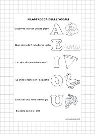 Risultati immagini per filastrocca delle vocali