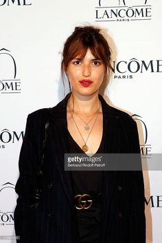 Actress Jeanne Damas attends the Lancome 80th Anniversary Party as part of Paris Fashion Week Haute Couture Fall/Winter 2015/2016 on July 7, 2015 in Paris, France.