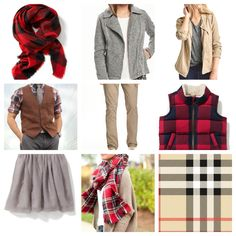 Grey, Khaki, and Red