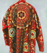 Painting of embroidered coat