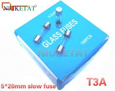 100pcs/box 5*20mm 3A 250V slow fuse 5*20 T3A 3000mA 250V Glass Fuse 5mm*20mm New and original