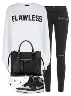 """""""High Top Sneakers"""" by junglover ❤ liked on Polyvore featuring Paige Denim, Private Party, Balenciaga and NIKE"""