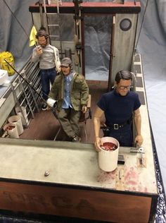 "Diorama th scale JAWS"""" dio. with figures - OSW: One Sixth Warrior Forum Gi Joe, Jaws Movie, Jaws 2, Retro, Barbie Diorama, Military Figures, Hai, Custom Action Figures, Old Toys"
