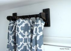 Painted Therapy: My Fancy Dancy Curtain Rods