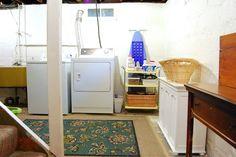 My So-Called Home: Basement Laundry Room: Slightly Better