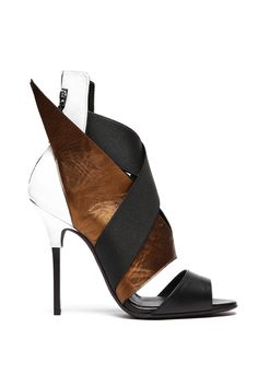 fall 2012, Diego Dolcini, shoes, sandals, high heels, camel, black