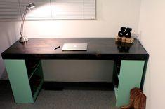 DIY Desk Tutorial - Looks Super Easy!