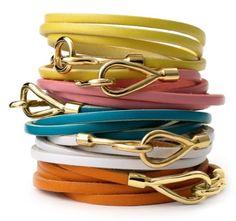 Cara Coutoure Leather Wrap Bracelet – $28