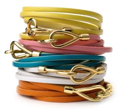 Cara Coutoure Leather Wrap Bracelet – $28