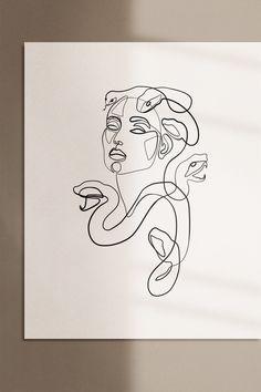 Tattoo Sketches, Tattoo Drawings, Drawing Sketches, Art Drawings, Hipster Drawings, Doodle Sketch, Medusa Art, Medusa Tattoo, Medusa Gorgon