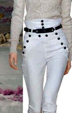 j k sailor pants Sailor Pants, Current Mood, Capri Pants, Fashion, Moda, Capri Trousers, Fashion Styles, Fashion Illustrations