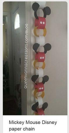 Mickey Mouse Birthday Party - Handmade Streamer Idea                                                                                                                                                                                 More Mickey Mouse Birthday Decorations, Mickey Mouse Christmas, Mickey Mouse Clubhouse Birthday Party, Mickey Mouse Crafts, Mickey Mouse Classroom, Paper Party Decorations, Mickey Birthday, Mickey Mouse Parties, Diy Mickey Decorations