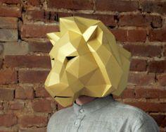 Elephant head mask DIY Paper creation PDF pattern por SmagaPaper