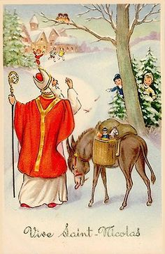 Carte illustrée : Vive Saint Nicolas