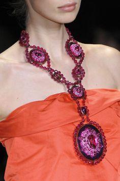Details about  /Fashion Circle Pendant Brown Men Women Faux Leather Long Necklace Jewelry AL