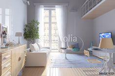Солнечная гостиная с огромным окном