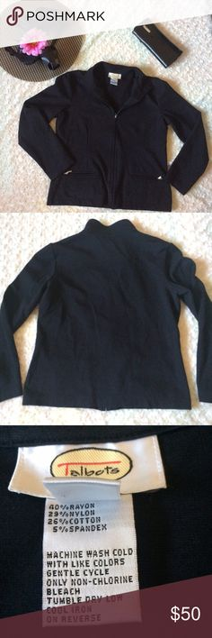 """Talbots Women's Jacket * suit Size Small Gently owned very fashionable!! Sleeve length 22"""" Body length 22"""" Shoulder width 16"""" This beautiful suit will definitely do that job!! Please feel free to ask if you have any questions! Talbots Jackets & Coats Blazers"""