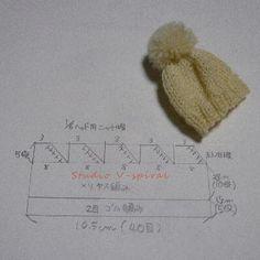 1/6ニット帽編み図③