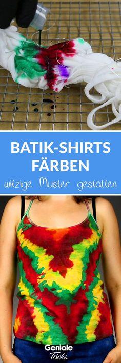 DIY Trend: T-Shirt färben - Bunter Hingucker: Dafür musst du nur dein T-Shirt auf den Ofenrost legen.
