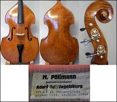 """""""Erbaut in Deutschlands groser (sic!) Zeit. 15. März 1938!"""" Double Bass, Cello, Music Instruments, Artwork, Work Of Art, Auguste Rodin Artwork, Musical Instruments, Cellos, Artworks"""