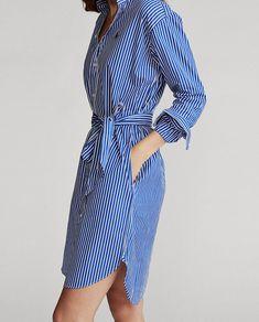 Striped Long Sleeve Shirt, Long Sleeve Shirt Dress, Striped Dress, Cotton Shirt Dress, Jumpsuit Dress, Dress Outfits, Dresses, Preppy, Lace Dresses